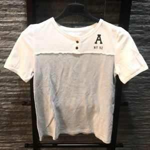 Abercrombie Girls Short Sleeve Henley Tee
